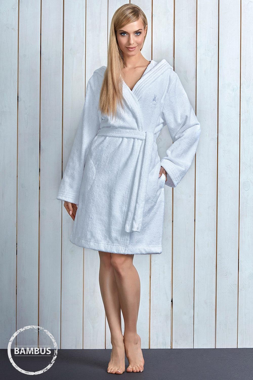 Capot dama Alba White cu fibre de bambus