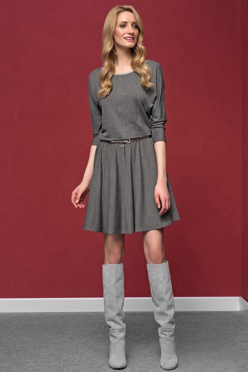Zaps Rochie eleganta Altea Grey material tricot