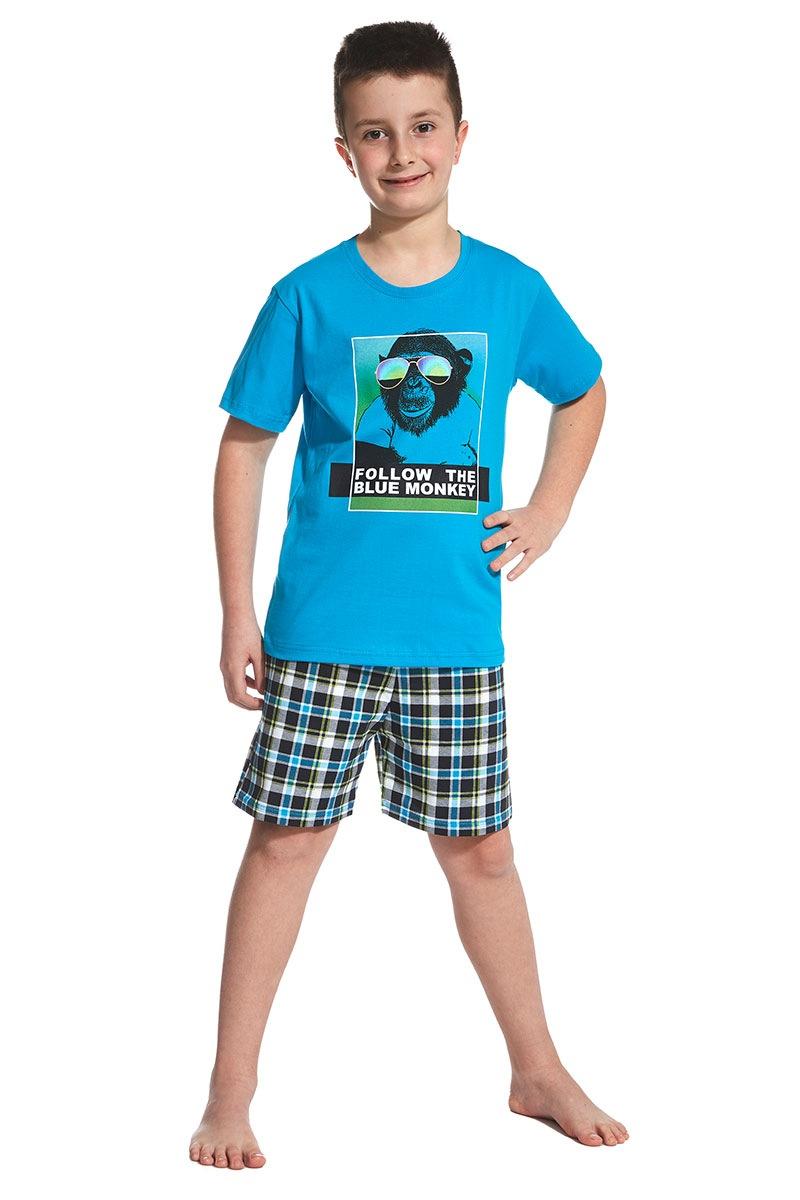 Cornette Pijama baietei Blue Monkey