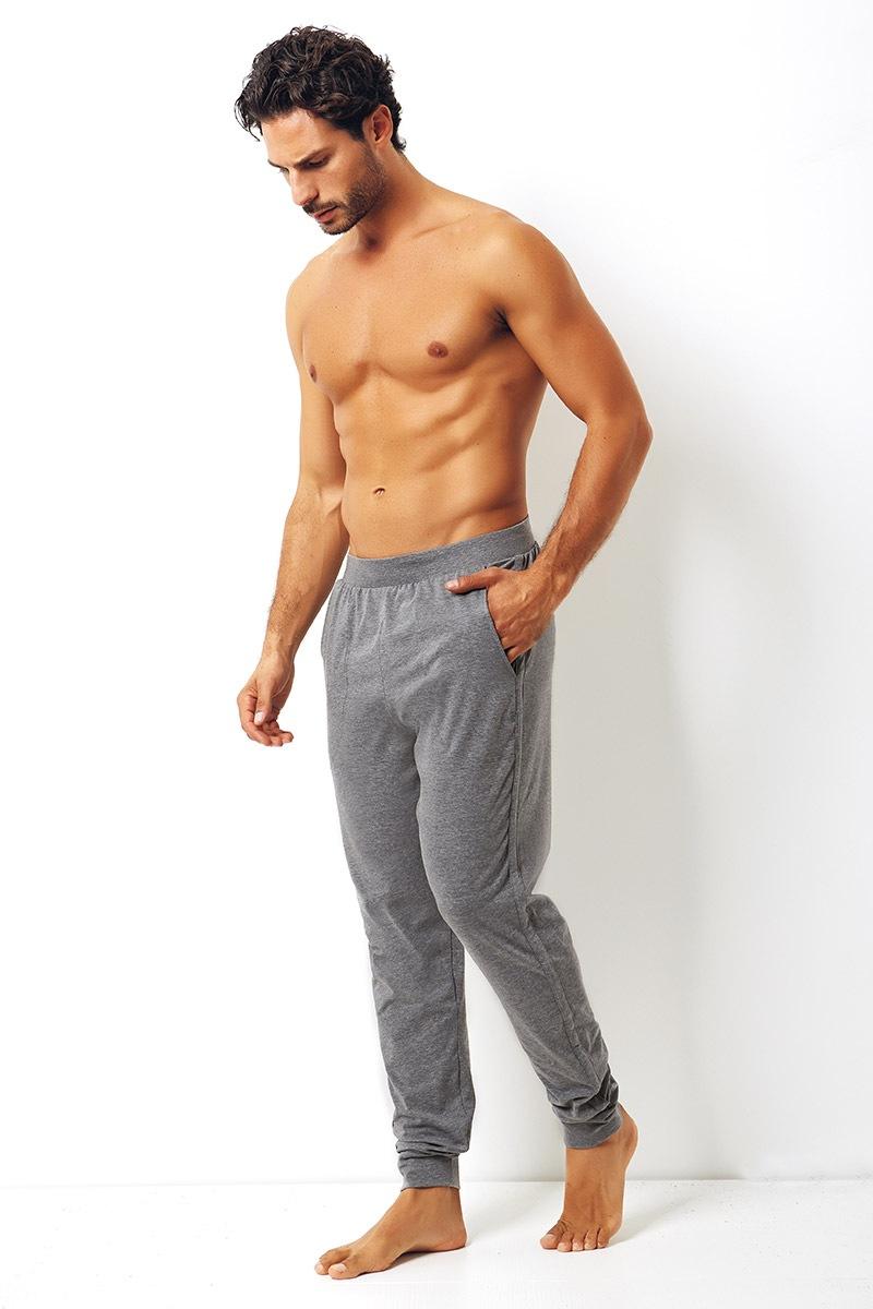 Enrico Coveri Pantalon de trening pentru barbati Enrico Coveri gri din bumbac