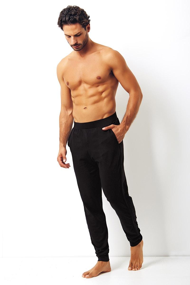 Enrico Coveri Pantalon de trening pentru barbati Enrico Coveri negru din bumbac