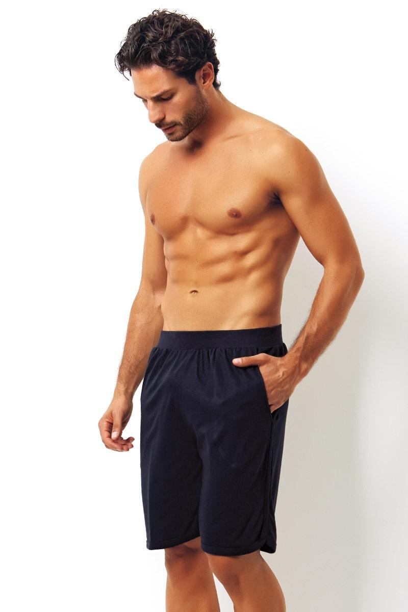 Pantalon scurt albastru din bumbac