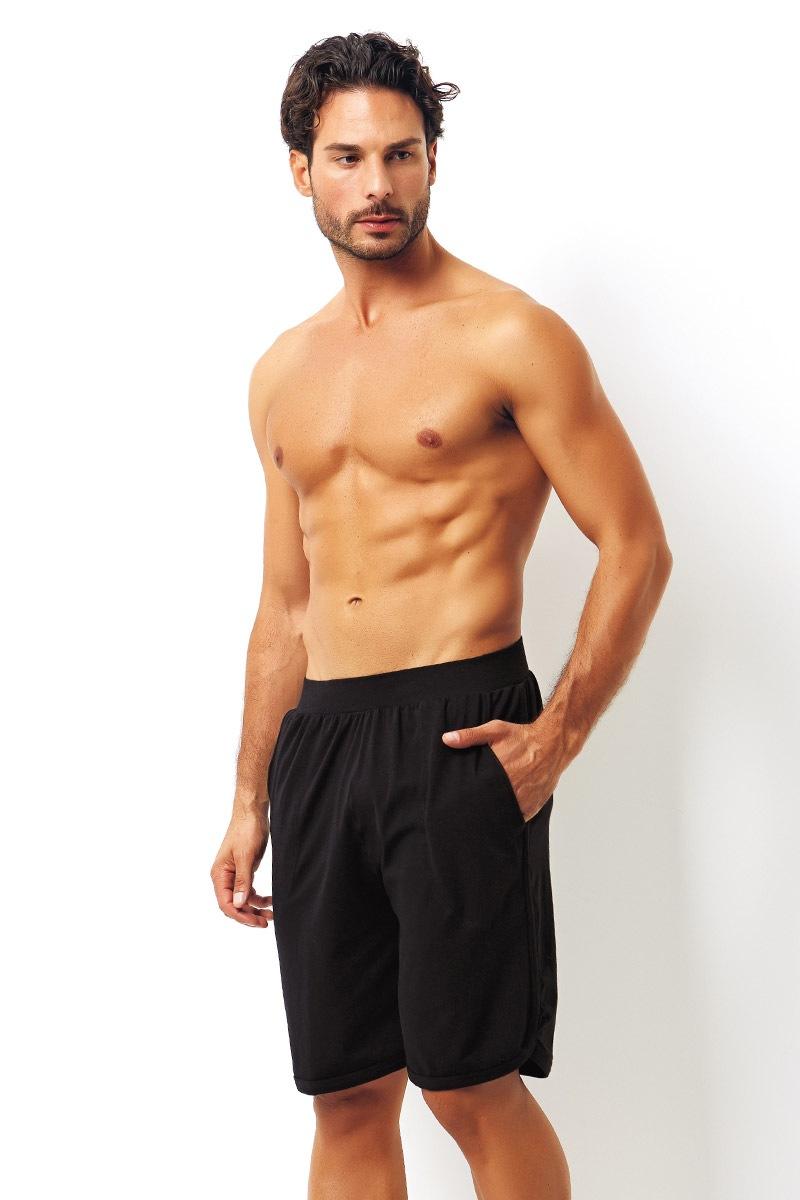 Enrico Coveri Pantalon scurt negru din bumbac