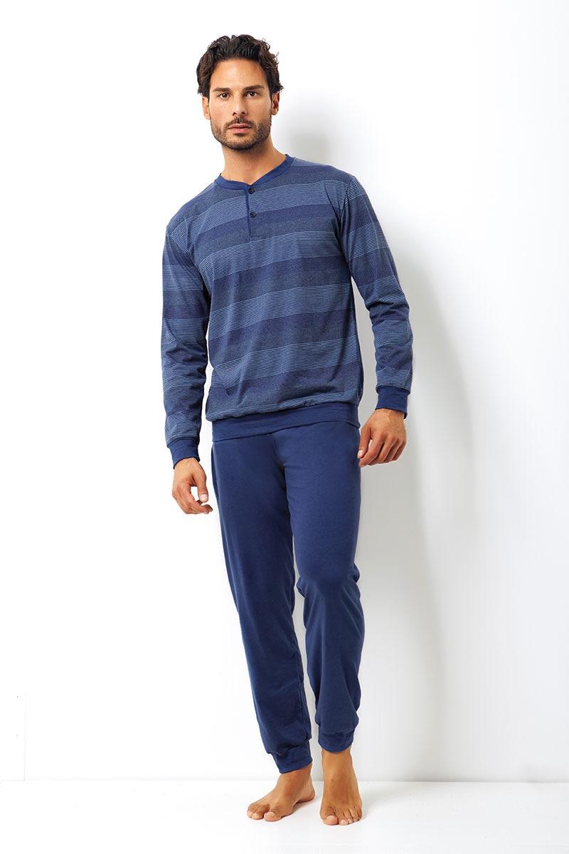 Enrico Coveri Set barbatesc Giovanni din bumbac – bluza pantalon