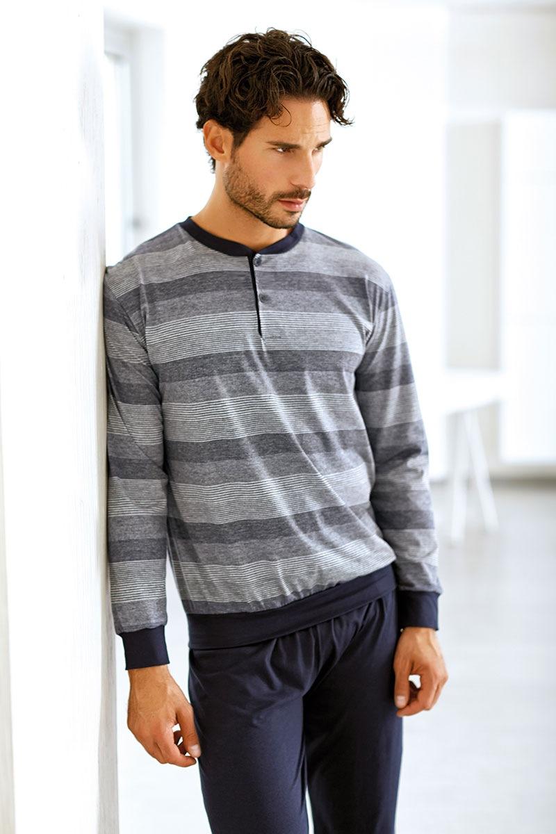 Enrico Coveri Set barbatesc Lucca din bumbac – bluza pantalon