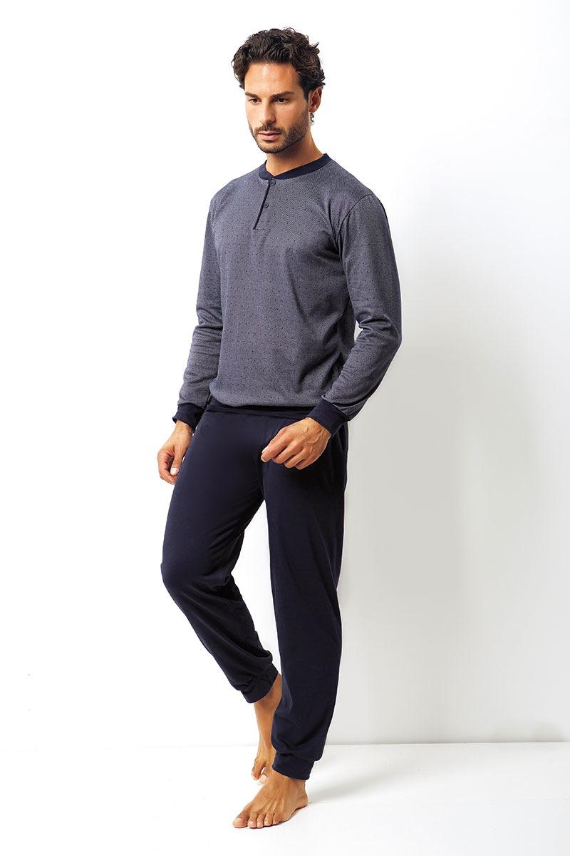 Enrico Coveri Set barbatesc Domenico din bumbac – bluza pantalon