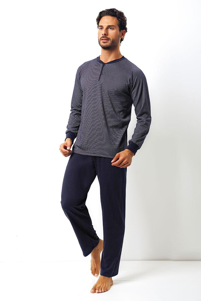 Enrico Coveri Set barbatesc Dante din bumbac – bluza pantalon