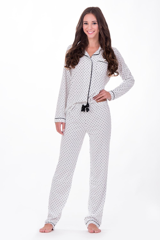 Pijama Dama Hearts White