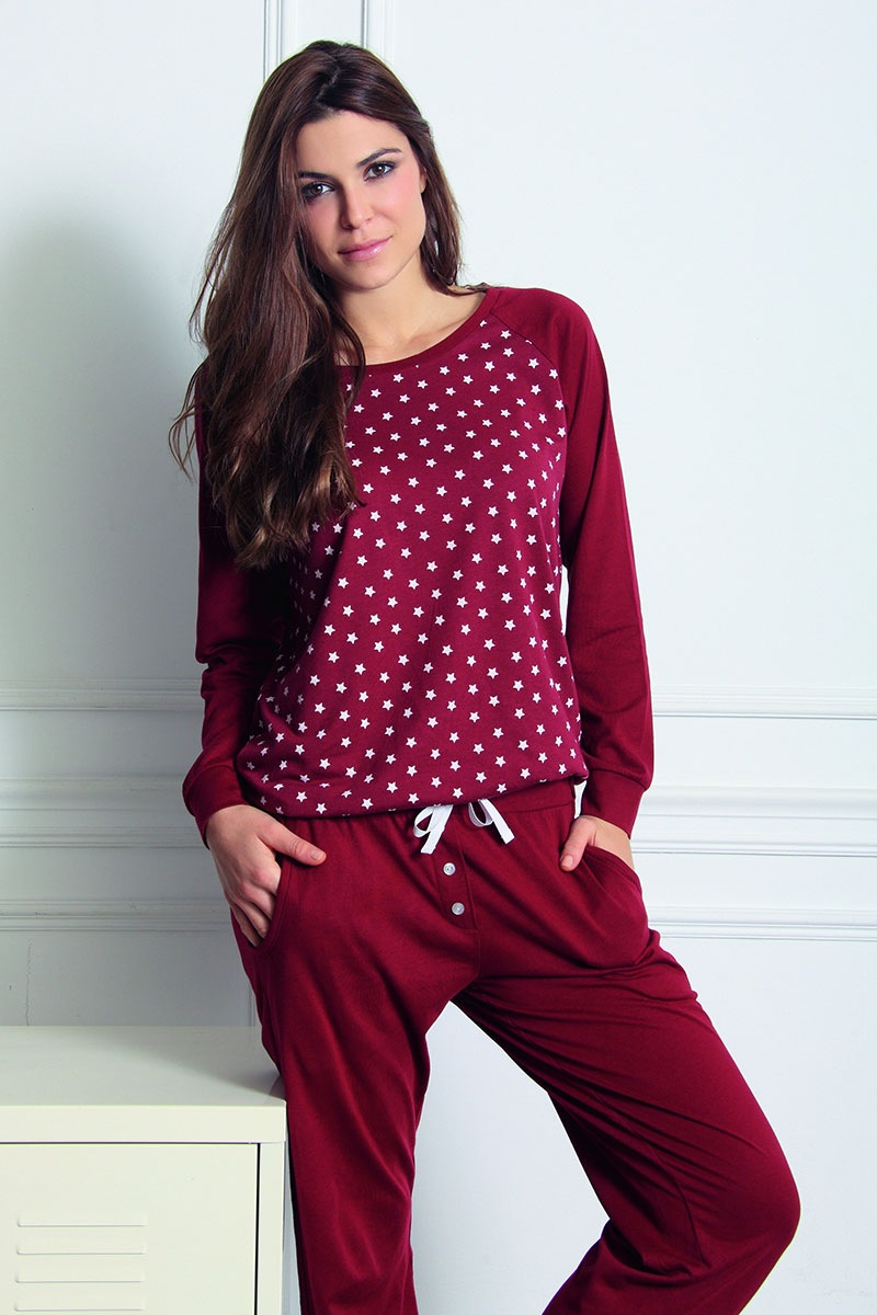 Sassa Pantalon de casa Fashion din modal