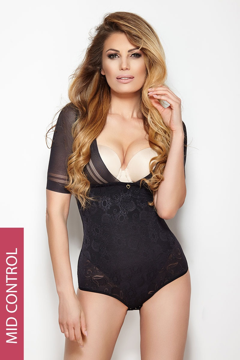 Mitex Body Glossy cu efect modelator negru