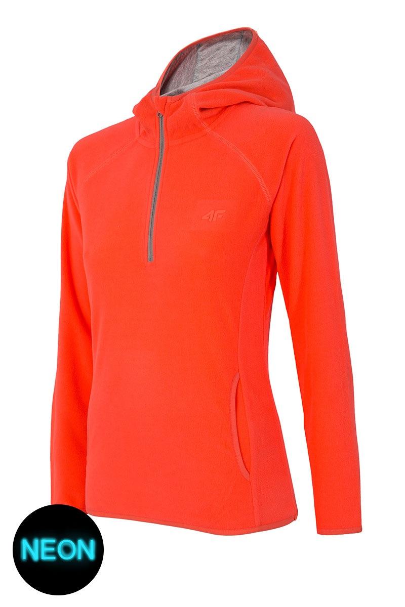 4F Hanorac sport de dama Neon material fleece