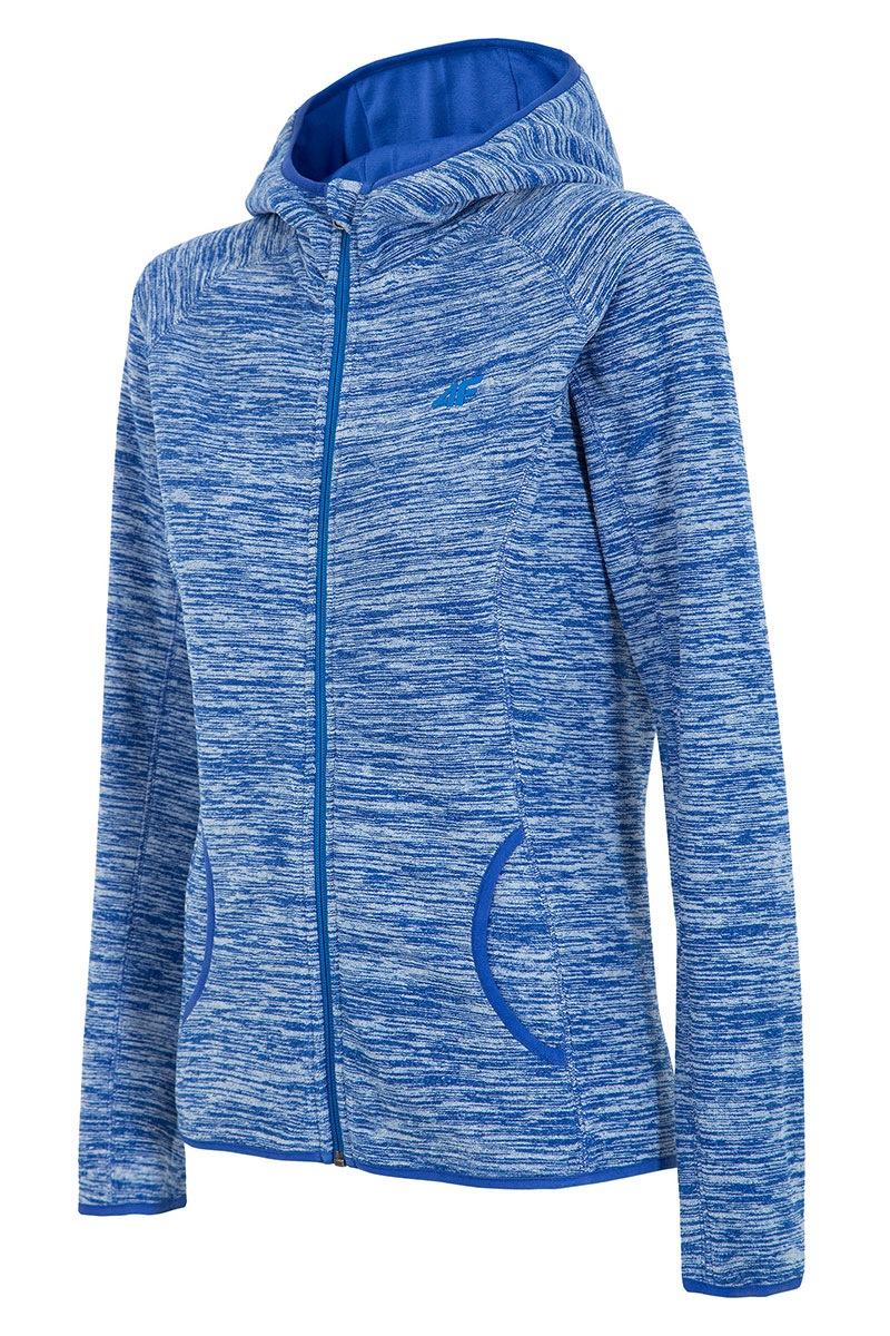 4F Hanorac sport de dama Blue material fleece