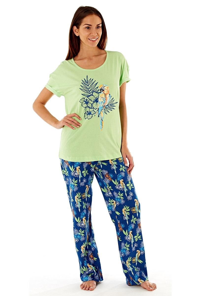Pijama dama Parrot din bumbac