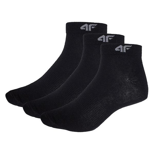 4F Sosete pana la glezna barbatesti Black 3pack