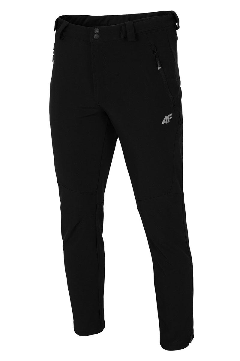 4F Pantalon shoftshell barbatesc Black