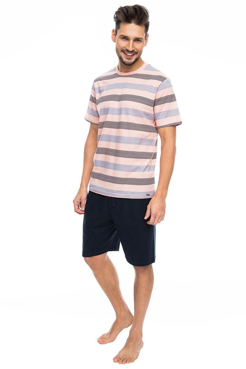 Rossli Pijama barbateasca Pink stripes