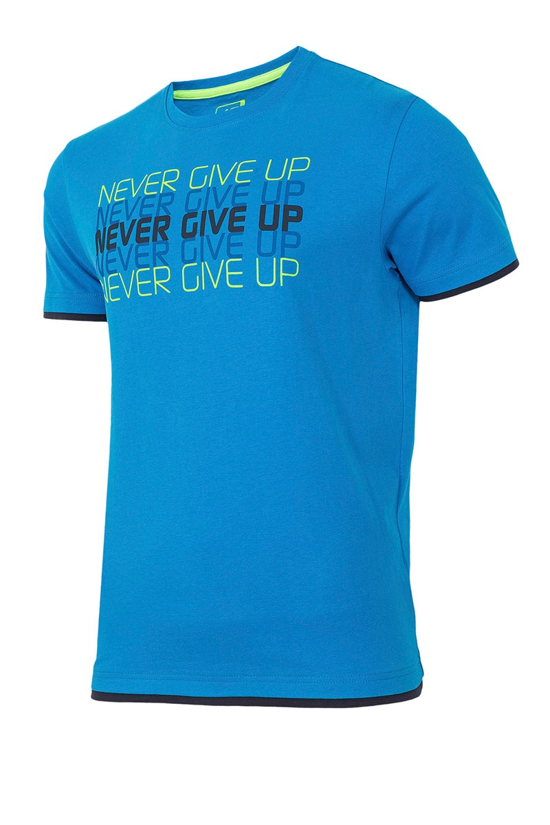 4F Tricou sport barbatesc Never give up