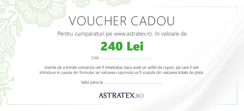 Astratex Cupon cadou 240 Lei