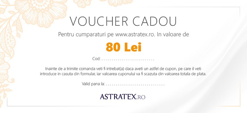 Astratex Cupon cadou 80 Lei
