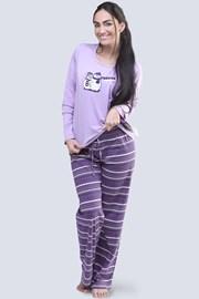 Pijama Penguin mov, din bumbac
