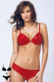 Set sutien cu efect Push-Up si chilot 4392