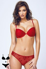 Set sutien cu efect Push-Up si chilot 4394