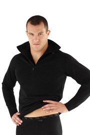 Bluza barbateasca Merino tip helanca, din material functional