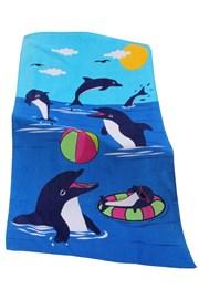 Prosop de plaja copii Dolphin game