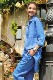 Rochie Sherie Blue, din in