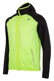 Jacheta barbateasca pentru alergare din material impermeabil