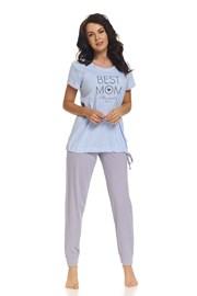 Pijama Best Mom Blue, pentru alaptare
