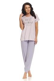Pijama Best Mom Pink, pentru alaptare