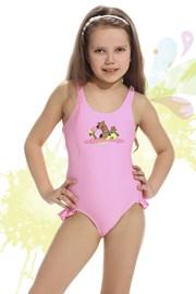 Costum de baie fetite Smiling roz