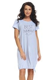 Camasa de noapte Best Mom Blue, pentru alaptare